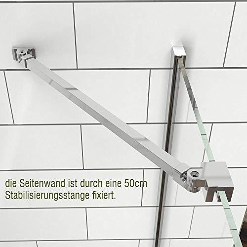 Duschkabine mit fester Seitenwand und Drehtür von Meykoe - 5