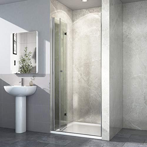 Duschkabine Dusche Falttür Duschabtrennung Duschtür Duschwand aus Sicherheitsglas 70 x 185 cm - 2