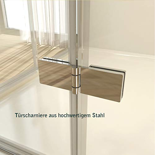 Rahmenlose Duschtür faltbar mit hochwertigen Montageteilen von EMKE - 6