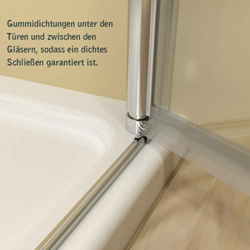 Duschkabine Dusche Falttür Duschabtrennung Duschtür Duschwand aus Sicherheitsglas 70 x 185 cm - 9