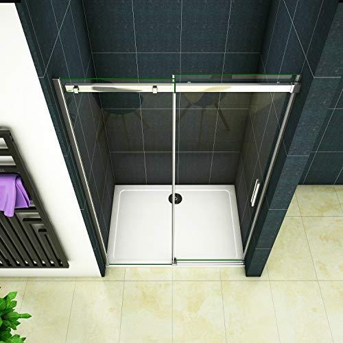 Duschtür Schiebetür für eine Nische aus Klarglas - 3