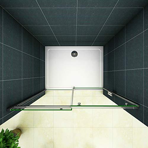 Duschtür Schiebetür für eine Nische aus Klarglas - 4