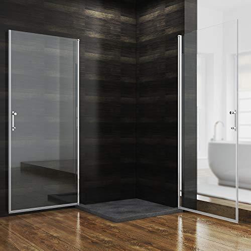 Rahmenlose Duschkabine mit Schwingtüren aus Klarglas - 2