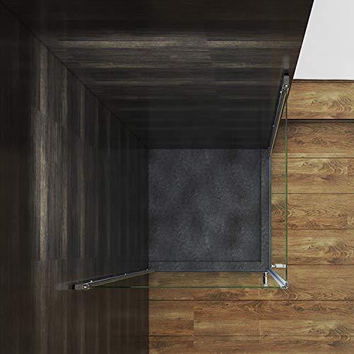Rahmenlose Duschkabine mit Schwingtüren aus Klarglas - 3