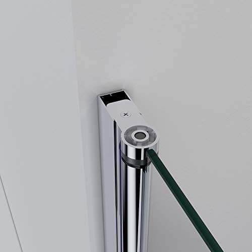 Rahmenlose Duschkabine mit Schwingtüren aus Klarglas - 5