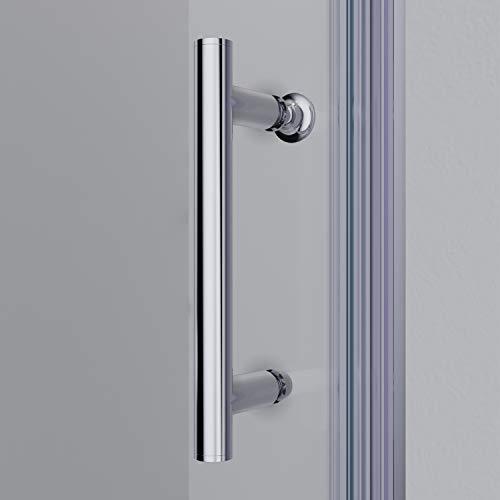 Rahmenlose Duschkabine mit Schwingtüren aus Klarglas - 6