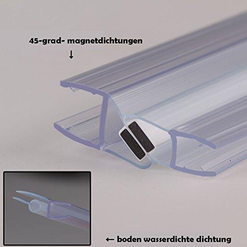 Rahmenlose Duschkabine mit Schwingtüren aus Klarglas - 9