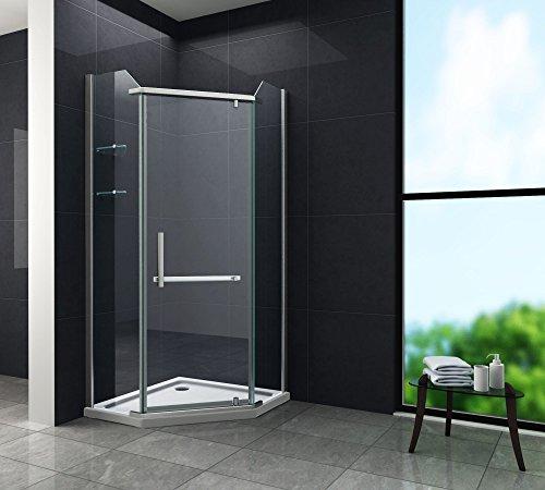 Fünfeck-Duschkabine PENTAGONO mit Beschichtung zur leichteren Reinigung
