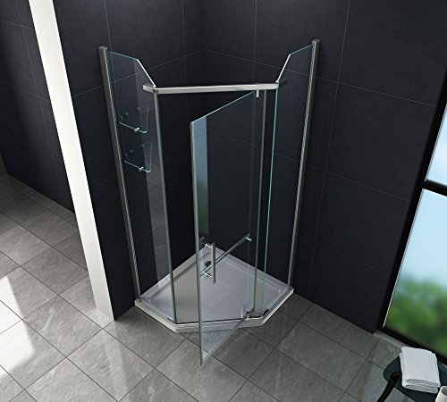Fünfeck-Duschkabine PENTAGONO mit Beschichtung zur leichteren Reinigung - 2
