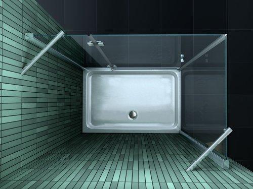 Rahmenlose Duschkabine SILL mit Beschichtung für leichtere Reinigung - 3