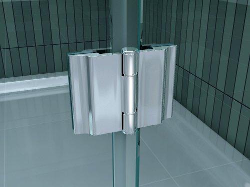 Rahmenlose Duschkabine SILL mit Beschichtung für leichtere Reinigung - 4