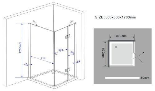Rahmenlose Duschkabine SILL mit Beschichtung für leichtere Reinigung - 5