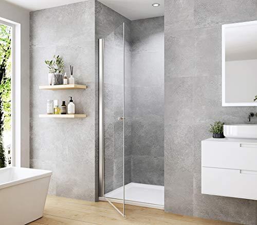 WELMAX 70 x 185 cm Duschtür Duschkabine 6mm ESG Glas Pendeltür Dusche Duschabtrennung mit Beidseitiger Nano Beschichtung - 4