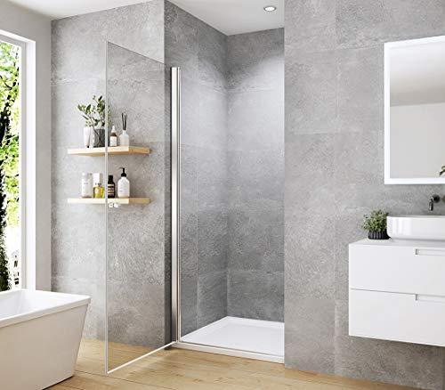 WELMAX 70 x 185 cm Duschtür Duschkabine 6mm ESG Glas Pendeltür Dusche Duschabtrennung mit Beidseitiger Nano Beschichtung - 3
