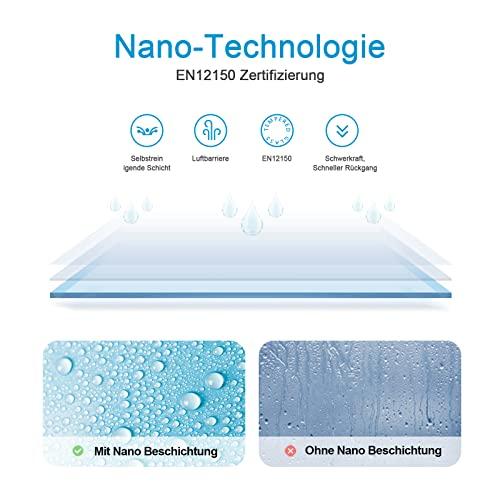 WELMAX 70 x 185 cm Duschtür Duschkabine 6mm ESG Glas Pendeltür Dusche Duschabtrennung mit Beidseitiger Nano Beschichtung - 2