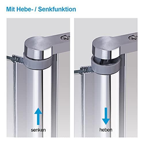 WELMAX 70 x 185 cm Duschtür Duschkabine 6mm ESG Glas Pendeltür Dusche Duschabtrennung mit Beidseitiger Nano Beschichtung - 5