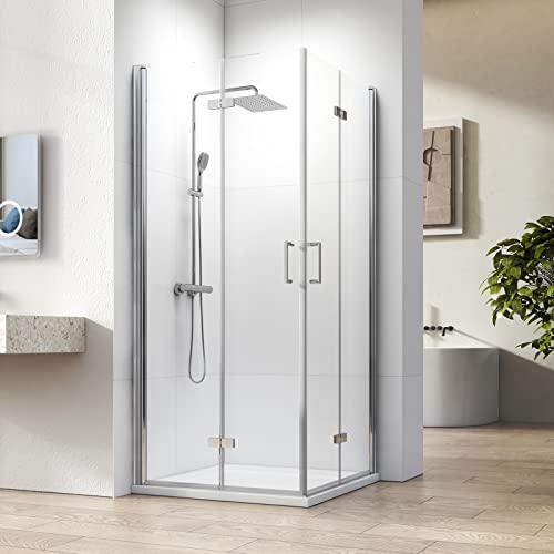 Rahmenlose Eckeinstieg Duschkabine mit Falttür von WELMAX