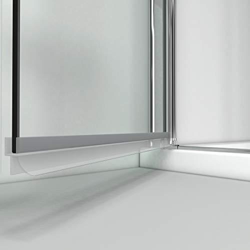 WELMAX Eckeinstieg Duschkabine Rahmenlos Falttür 70 x 70 x 195cm Doppelt Duschtür Duschabtrennung 6mm ESG Klares Sicherheitsglas Mit Beidseitiger NANO-Beschichtung - 7