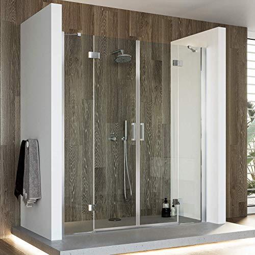 Große Duschtür mit Doppelschwenktür und Easy-Clean-Beschichtung