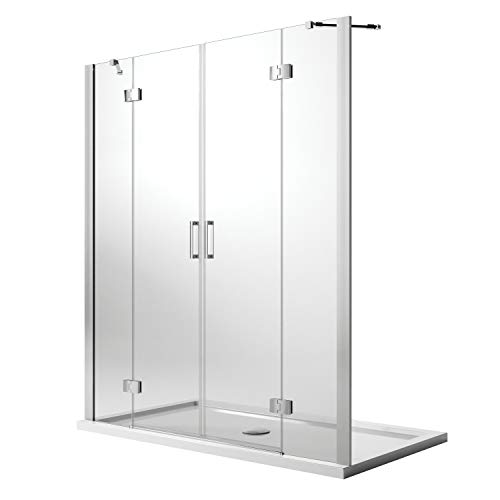 Idralite Duschtür 150CM H190 Klarglas mit Easy-Clean Mod. Flip Tür + Tür - 2