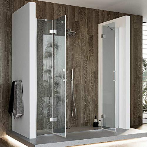 Idralite Duschtür 150CM H190 Klarglas mit Easy-Clean Mod. Flip Tür + Tür - 3
