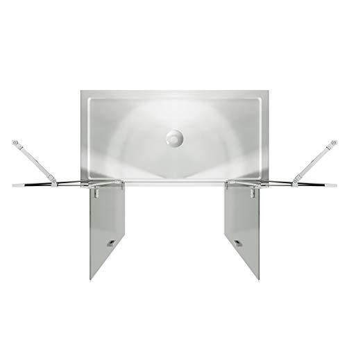 Idralite Duschtür 150CM H190 Klarglas mit Easy-Clean Mod. Flip Tür + Tür - 4