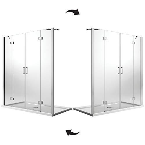 Idralite Duschtür 150CM H190 Klarglas mit Easy-Clean Mod. Flip Tür + Tür - 7
