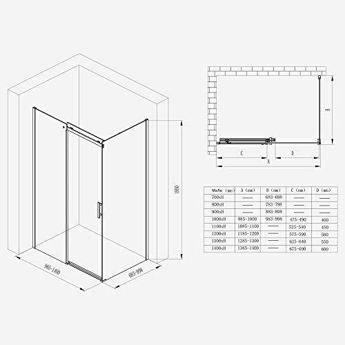 Duschkabine Ravenna18 mit Schiebetür und Nanobeschichtung - 7