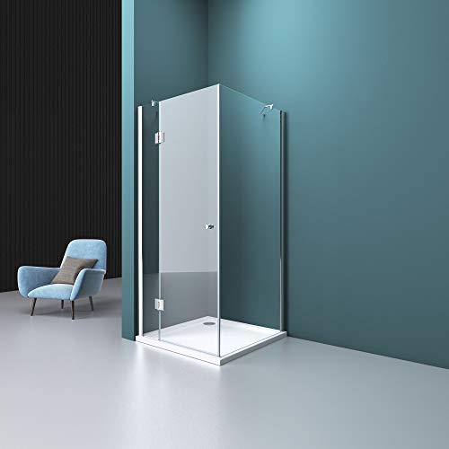 Duschabtrennung Klarglas 70x80, 6mm ESG-Sicherheitsglas, Duschwand aus Echtglas, Nanobeschichtung, Duschkabine R05k - 2