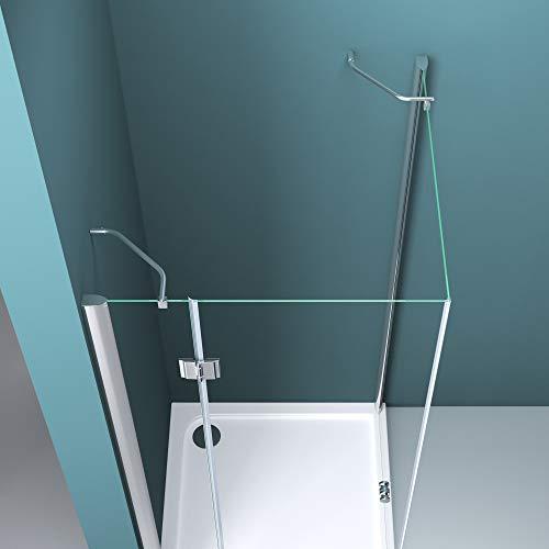 Duschabtrennung Klarglas 70x80, 6mm ESG-Sicherheitsglas, Duschwand aus Echtglas, Nanobeschichtung, Duschkabine R05k - 3