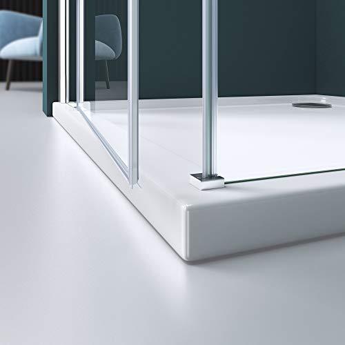 Duschabtrennung Klarglas 70x80, 6mm ESG-Sicherheitsglas, Duschwand aus Echtglas, Nanobeschichtung, Duschkabine R05k - 4