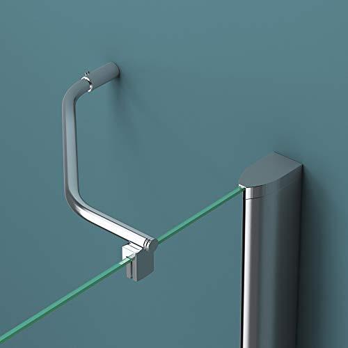 Duschabtrennung Klarglas 70x80, 6mm ESG-Sicherheitsglas, Duschwand aus Echtglas, Nanobeschichtung, Duschkabine R05k - 5
