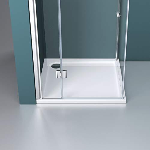 Duschabtrennung Klarglas 70x80, 6mm ESG-Sicherheitsglas, Duschwand aus Echtglas, Nanobeschichtung, Duschkabine R05k - 6
