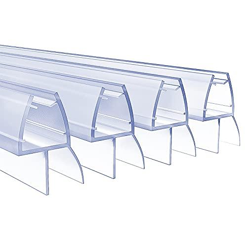 4 x 100 cm Duschdichtungen für 6 - 8 mm Glasdicke