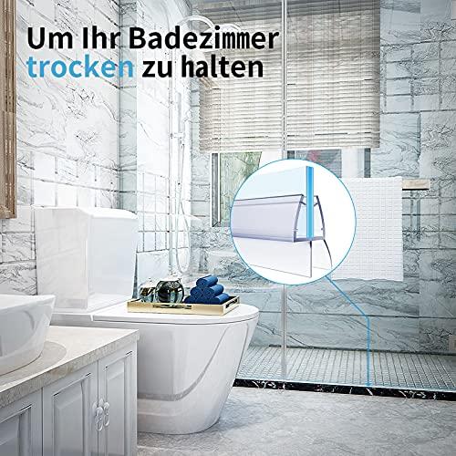 4 x 100cm Duschdichtungen für Duschtüren, 6mm 7mm 8mm Dichtung Dusche Glastür, Transparent Duschdichtung Glasdicke, Wasserabweisende Ersatzdichtung für Dusche, Schwallschutz Dichtkeder - 7