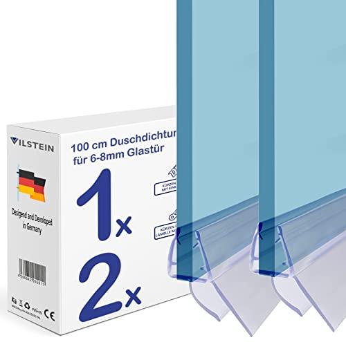 2 x 100 cm Duschdichtung für 6 - 8 mm Glasdicke