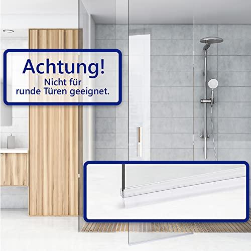 VILSTEIN Duschdichtung für Duschtüren 2x 100cm Länge, kürzbar, 6, 7, 8mm Glasstärke, Duschlippen und Wasserabweisprofil - 4