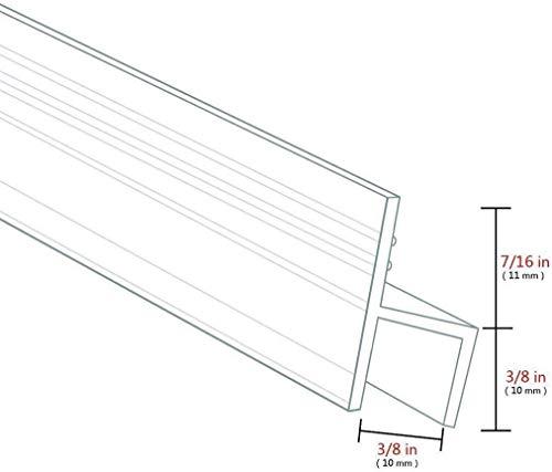 KEPEAK Duschdichtung, 1 x 300 cm H-Type Glastür Duschtür Dichtung für 6mm, 7mm, 8mm Dichtung Dusche Glastür - 6