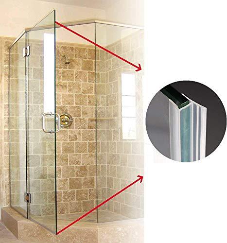 KEPEAK Duschdichtung, 1 x 300 cm H-Type Glastür Duschtür Dichtung für 6mm, 7mm, 8mm Dichtung Dusche Glastür - 3