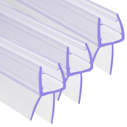 3 x 100 cm H-Typ Duschdichtung für 6 - 8 mm Glasdicke
