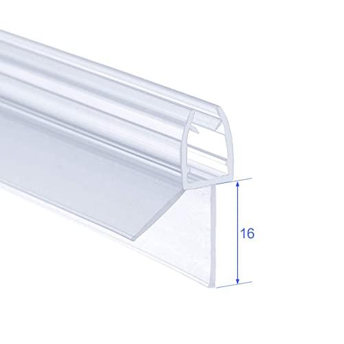 IMPTS 2 Stück dichtung dusche, Dichtungen für 5mm 6mm Duschwand Glastür Glasdicke, Ersatzdichtung Duschkabine Wasserabweiser Duschdichtung Schwallschutz Dichtkeder - Transparent - 6