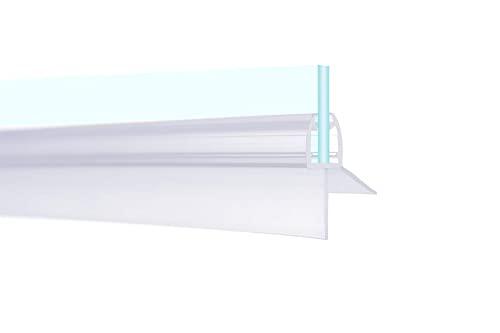 IMPTS 2 Stück dichtung dusche, Dichtungen für 5mm 6mm Duschwand Glastür Glasdicke, Ersatzdichtung Duschkabine Wasserabweiser Duschdichtung Schwallschutz Dichtkeder - Transparent - 3