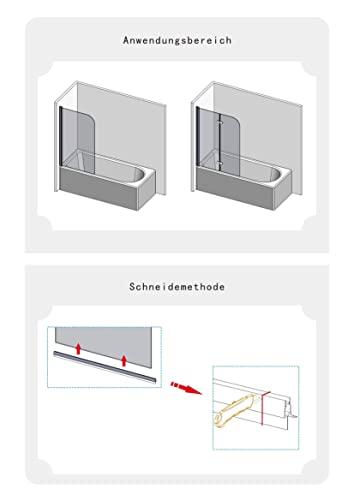 IMPTS 2 Stück dichtung dusche, Dichtungen für 5mm 6mm Duschwand Glastür Glasdicke, Ersatzdichtung Duschkabine Wasserabweiser Duschdichtung Schwallschutz Dichtkeder - Transparent - 4