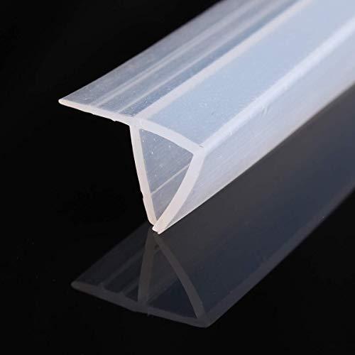 200cm F Shape Duschtür Dichtung Duschdichtung Wasserabweiser Dusche Glastür für 8mm Glasdicke - 3