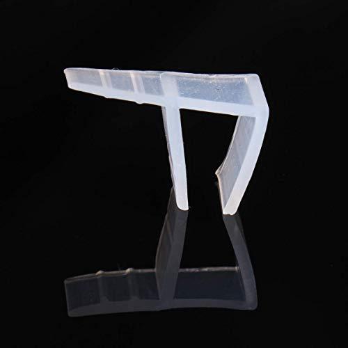 200cm F Shape Duschtür Dichtung Duschdichtung Wasserabweiser Dusche Glastür für 8mm Glasdicke - 8