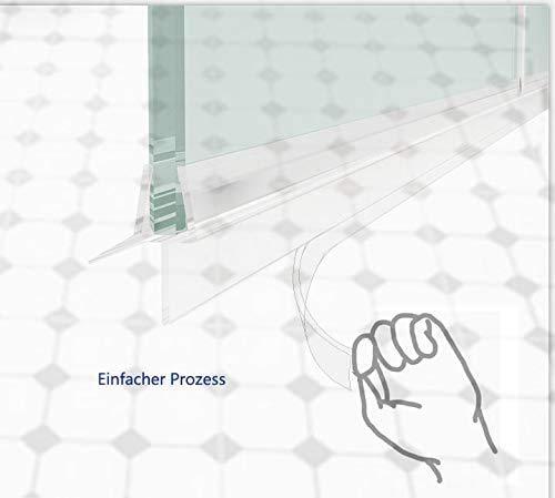 Duschkabinen, Duschdichtung Ersatzdichtung, wasserdichteAbdeckkapsel, Überlaufsicherung, für 6 mm,duschandDichtung 100 cm - 3