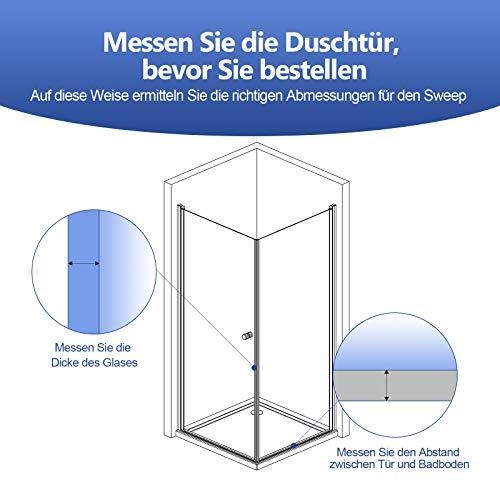 1 x 100 cm Duschdichtung für 7 – 8 mm Glasdicke - 3