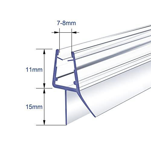 1 x 100 cm Duschdichtung für 7 – 8 mm Glasdicke - 5