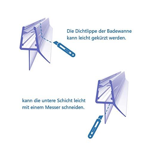 1 x 100 cm Duschdichtung für 7 – 8 mm Glasdicke - 7