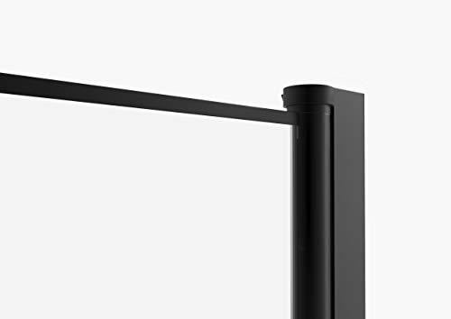 MARWELL 90 x 90 x 200 cm CLEAN LINE Glasdusche, Matt Schwarz - 3